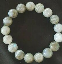 200 Carat Natural Labrodorite Gemstone 10mm Bead Bracelet Bangle 39 grams