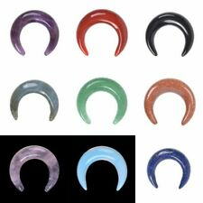 Gemstone Crescent Moon Shape Double Horn DIY Jewelry Making Kit Wrapping Stone