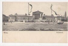 Wien Parlament Austria Vintage U/B Postcard 260a