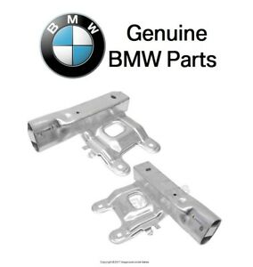 For BMW F22 F30 F31 Sedan Pair Set of 2 Front Lower Bumper Carrier Brackets OES