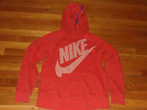 NIKE LONG SLEEVE ORANGE HOODIE BOYS XL 18-20 EXCELLENT CONDITION