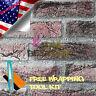 """*48""""x60"""" Red Brick Stone Textured Vinyl Background Wall Sticker Wallpaper BIR04"""