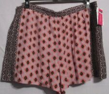 NWT Women's xhilaration cream black coral dress shorts fully lined Size XL.