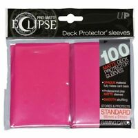PRO-Matte Eclipse Pink Standard Deck Protector sleeves 100ct Ultra Pro