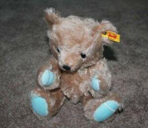 "Steiff Tiffany & Co Plush Teddy Bear Tan Teal Heart LOVE NYC Germany 11"" RARE"
