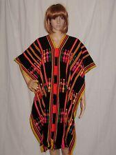 vtg HIPPY boho 70s CAPE poncho CAFTAN, LITTLE PEOPLE ethnic MEXICAN festival