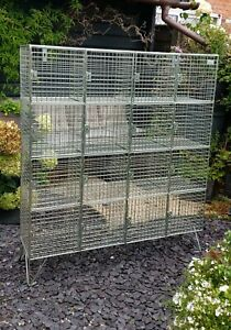 Industrial look Amp Wire mesh lockers, Immaculate