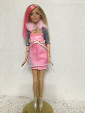 Barbie Fashion Fever Candy Glam Doll Pink Hair Streaks Dressed White Boots Rare