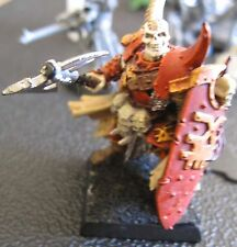 Warhammer Warriors of Chaos Khorne Lord on foot with shield painted