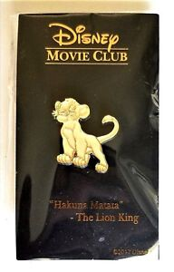 """Disney's Exclusive Lion King """"SIMBA""""  14K Gold Plated Lapel Pin - NEW & RARE"""