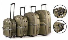 SET OF 4 SUITCASES LIGHTWEIGHT WHEEL SUITCASE TROLLEY CASE TRAVEL LUGGAGE BROWN
