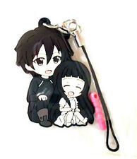 Sword Art Online Kirito and Yui Pikuriru Rubber Phone Strap NEW