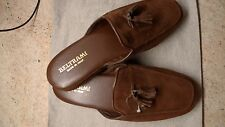 BELTRAMI LUXURY MEN'S SLIPPERS BROWN LEATHER/ SUEDE ITALY SIZES 42/9 OR 43/10