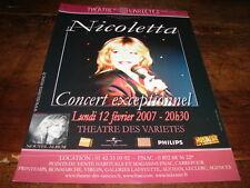 NICOLETTA - PUBLICITE CONCERT EXCEPTIONNEL FEVRIER 2007