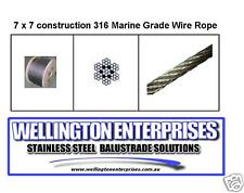 4.0mm 7x7 316 STAINLESS WIRE ROPE 100mtr CUT LENGTH