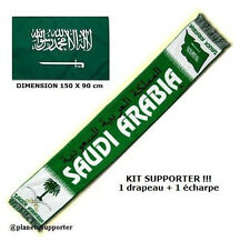 ECHARPE + DRAPEAU ARABIE SAOUDITE maillot fahne flag scarf schal sciarpa bufanda