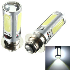 2X 10W 12V Pure White COB LED Motor Bike/ATV Headlight Bulb Fog Light H6M PX15d