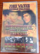 The Desert Trail  / Blue Steel (DVD, 2001) John Wayne