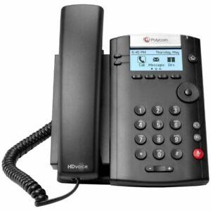 Polycom VVX-201 VoIP 2 Line Desktop Office Phone 2200-40450-025 NEW IN BOX