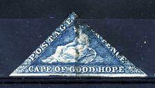 CAPE OF GOOD HOPE 1864 Four Pence Deep Blue Wmk Anchor SG 19 FU