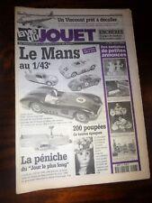 LA VIE DU JOUET Juillet 2000 N°57Seauxde plage,JEP Ruban bleu,Pompier,C.R
