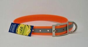 """Omnipet by Leather Brothers 100D-RFOR Orange SunGlo Reflective Collars 27"""""""