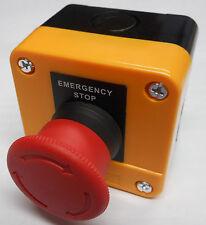 EMERGENCY STOP STATION TWIST RELEASE BUTTON DANGER YELLOW XAL-J174