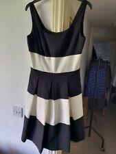Ralph Lauren Dress Black White Stripe Size 6 Uk 10