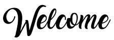 Welcome Vinyl Decal, Bumper Sticker, For Home, Business, Windows, Outdoors, etc