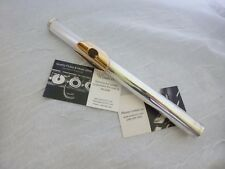 Sankyo Solid Sterling Silver Prof. Flute head joint *solid 14kt gold lip plate