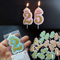 Glitter Number Crown Candles Number 0-9 Birthday Party Candle Cake Decorations