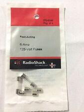 Radioshack Fast-Acting 6-Amp 125-Volt Fuses (270-0145) NEW