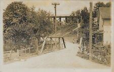 Small Bridge in Trucksville PA Real Photo RPPC vintage postcard used 1910