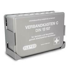 FLEXEO Betriebsverbandkasten DIN 13157, grau, mit Wandhalterung
