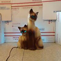 Vintage Kron Siamese Cat Mid Century TV Lamp Night Light Glowing Eyes WORKS