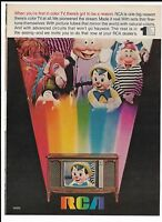 WALT DISNEY Print Ad ~ 1968 RCA TV First in Color ~ Pinocchio, Doc Dwarf