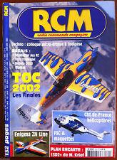 RCM Magazine n°261 du 1/2003; Plan Encarté 13D2+/ Enigma ZN line/ TOC 2002