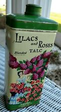 """Powder Talc Container """"Lilacs and Roses 1 lb"""" Empty Vintage!  APR2020"""
