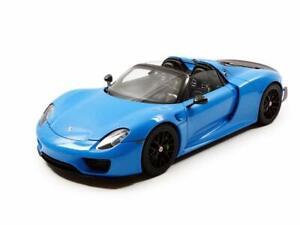 Autoart 1/18 Porsche 918 Spider Byzacher Age Light Blue