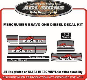 Mercury Bravo One 502 Magnum  Reproduction Outdrive Decal Kit   Mercruiser