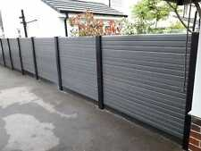 More details for slotted concrete fence post extender extends up to 2m black steel
