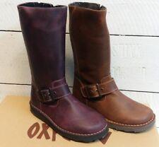 Ladies Oxygen Rhone Leather Mid Calf Zip Up Boots