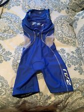 2XU Womens Medium Tri Suit Sleeveless CompressTriathlon Cycling Skinsuit Blue
