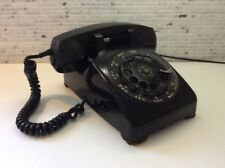 Vintage Rotary Dial Phone Telephone BLACK Mid Century Classic Very Clean Works