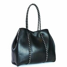 PRENE BAGS THE FREDDIE BAG (METALLIC BLACK) NEOPRENE TOTE BAG