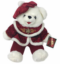 Christmas Plush Teddy Bear 2000 Snowflake With Tags