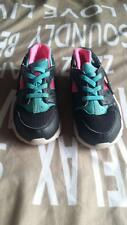 Girls NIKE Huarache's size 10c black, pink and light blue