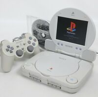 """PS one Console System SCPH-100 with LCD MONITOR Tested JAPAN A8508048 """"NTSC-J"""""""