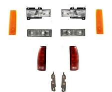 Headlights Parklamps Tail Lights W/Boards Side Markers Gmc Truck 88-93 92-93 SUV
