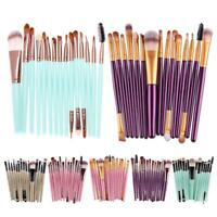 15tlg Make-up Pinsel Set Professionelle Kosmetik Brush Schminkpinsel 7 Farben